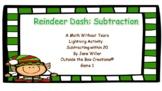 Reindeer Dash: Subtraction (Subtracting within 20) Game 1