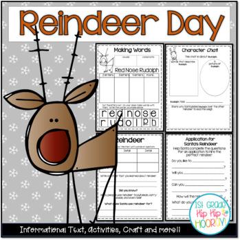 Reindeer Day!  Craft and Activities