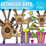 Reindeer Days Clipart Set