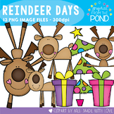 Reindeer Days Clipart Set