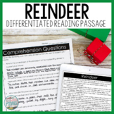 Reindeer Differentiated Reading Passage Distance Learning