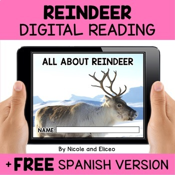 Reindeer Reading Comprehension for Google Classroom
