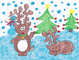 Reindeer Directed Draw