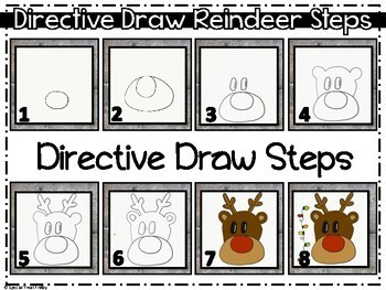 Christmas Reindeer Directed Draw FREE