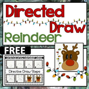 christmas reindeer directed draw free by special treat friday tpt christmas reindeer directed draw free