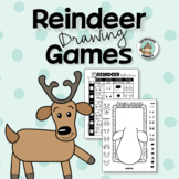 Reindeer Drawing Games Christmas Art Activity