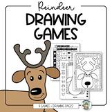 Reindeer Drawing Games Christmas Art Activity