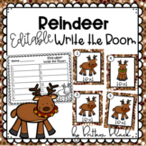 Reindeer~ Editable Write the Room