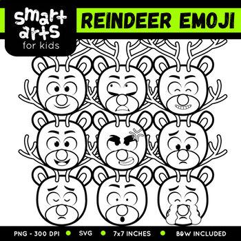 Reindeer Emoji Clip Art