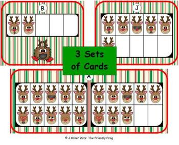 Reindeer Emoji Counting with 5, 10 & 20 Frames {Subitizing}