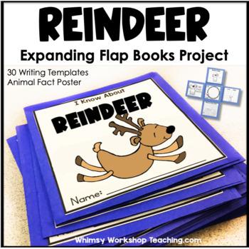 Reindeer Expanding Flap Book