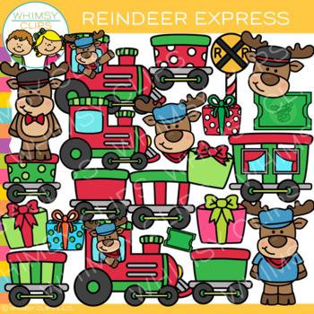 Reindeer Express Clip Art