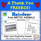 Reindeer FREEBIE! Beginning Reader for Guided Reading {CCSS}