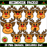 Reindeer Faces And Emotions Clipart