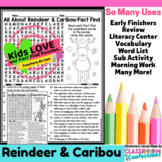 Reindeer: Reading and Word Search Activity