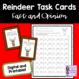 Reindeer Fact and Opinion Task Cards