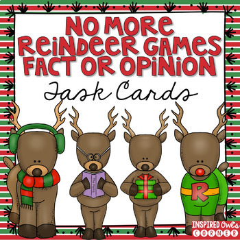Reindeer Fact or Opinion Task Cards