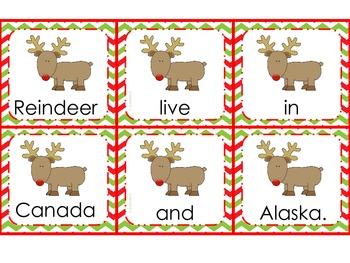 Reindeer Facts: Sentence Scramble