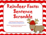 Reindeer Facts: Sentence Scramble