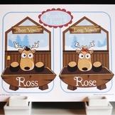 Reindeer Feed Short and Long Vowel Word Game