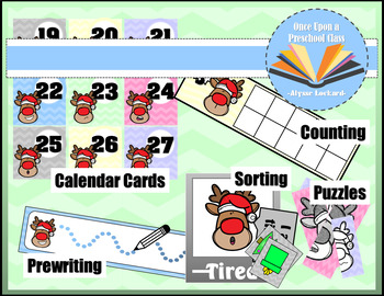 Reindeer Feelings Unit- Complete with Reading, Writing, and Math Activities