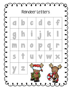 Reindeer Find a Letter