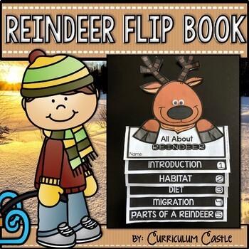 Reindeer (Caribou) Flip Book {Reading Comprehension & Craft}