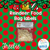 Reindeer Food Bag Tags