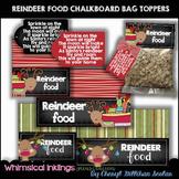 Reindeer Food Chalkboard Bag Toppers