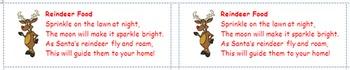 Reindeer Food Labels