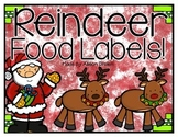 Reindeer Food Labels!