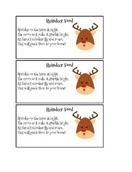 image relating to Reindeer Food Labels Printable named Printable Reindeer Food stuff Labels Worksheets Instructors Spend