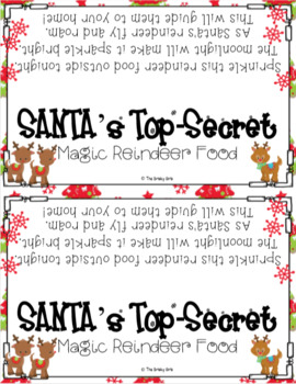 Reindeer Food {Letter from Santa} {Bag Toppers} and {How-To Writing Activity}