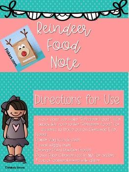 Reindeer Food Note