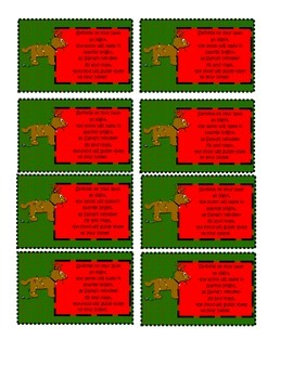 Reindeer Food Poem/Gift Tag