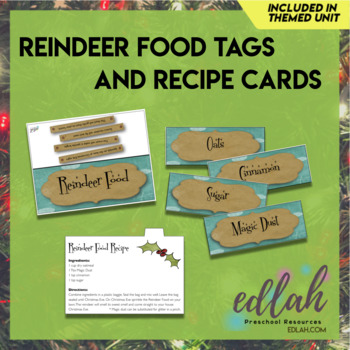 Reindeer Food Tags and Recipe Cards