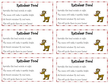 picture about Reindeer Food Poem Printable referred to as Printable Reindeer Food stuff Labels Worksheets Lecturers Pay back