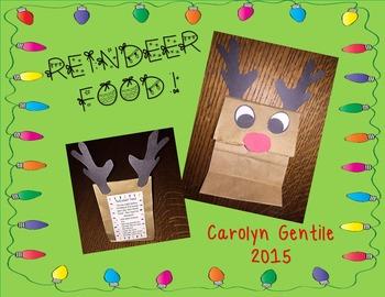Reindeer Food -  reindeer bag and instructions