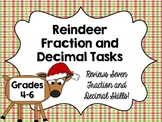 Reindeer Fraction and Decimal Math Tasks {Christmas Math Center}