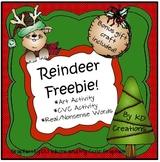 Kindergarten Reindeer Freebie