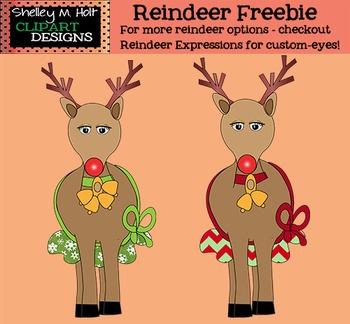 Reindeer Freebie Clipart