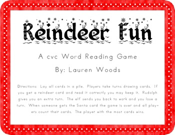 Reindeer Fun!  A cvc Game