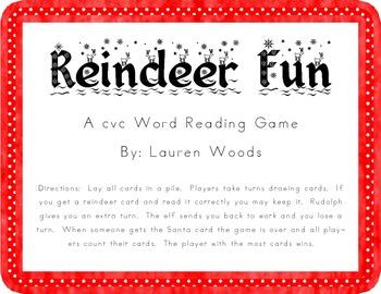 Reindeer Fun!  A cvc Game