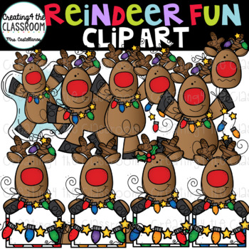 Reindeer Fun Clip Art {Reindeer Clip Art}