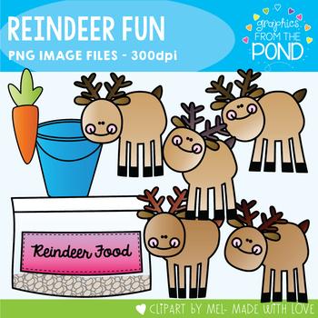 Reindeer Fun -  Clipart Set for Teachers and Classrooms