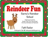 Reindeer Fun, Santa's Reindeer School - 5s, 10s, Greater Than, Less Than, Equal