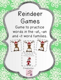 Reindeer Game (practice word families, -it, -at, -an)