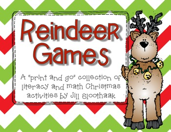"Reindeer Games: A mini collection of ""print and go"" activities for Christmas"