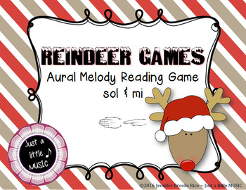 Reindeer Games -- An Aural Melody Recognition Game {sol mi}