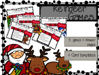 Christmas Cards for Kids & Reindeer Games Christmas Bundle
